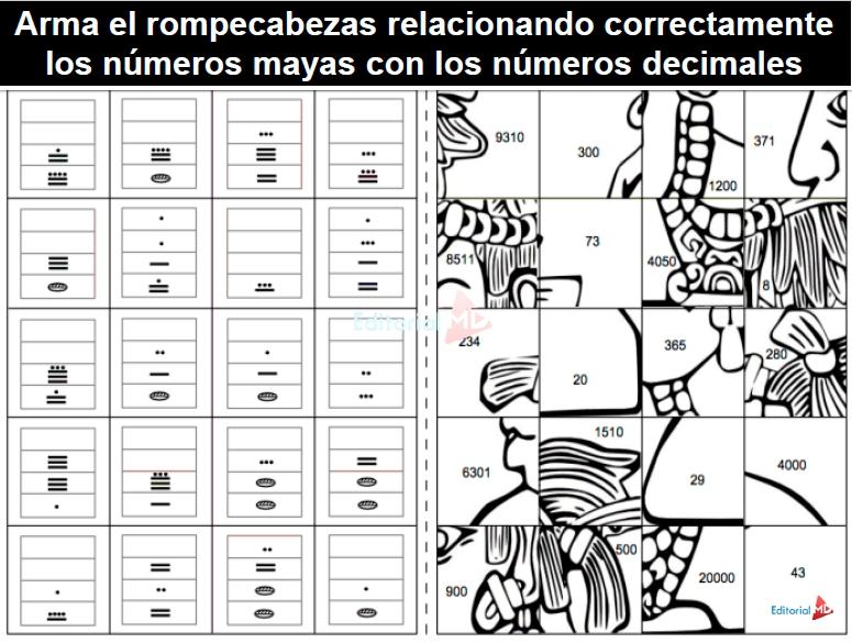 actividades del sistema de numeracion maya