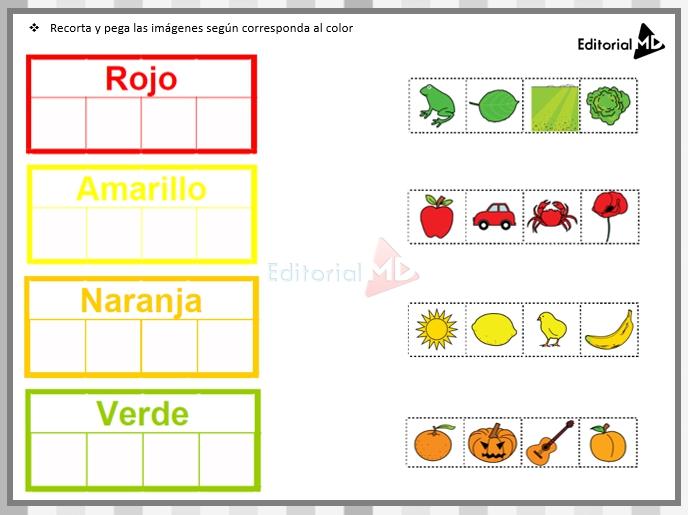 Actividades de los colores para niños