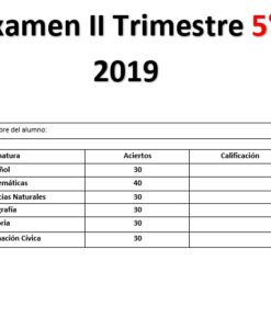 Examen 2do trimestre