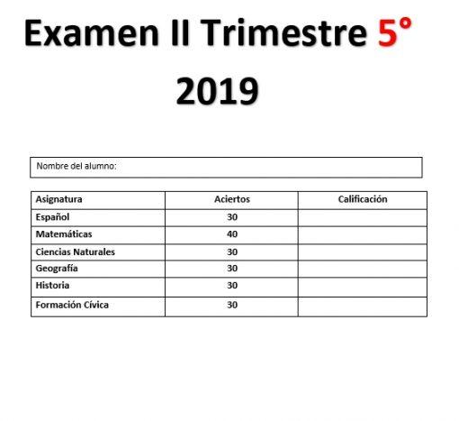 Examen 2do trimestre