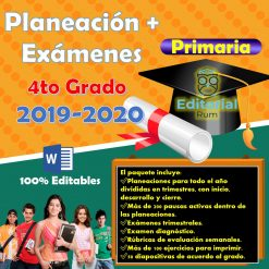 Planeaciones de Primaria Cuarto Grado 2019-2020 Nueva Escuela Mexicana (Incluye los 3 Trimestres)