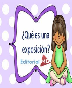 ¿Que es una exposición?