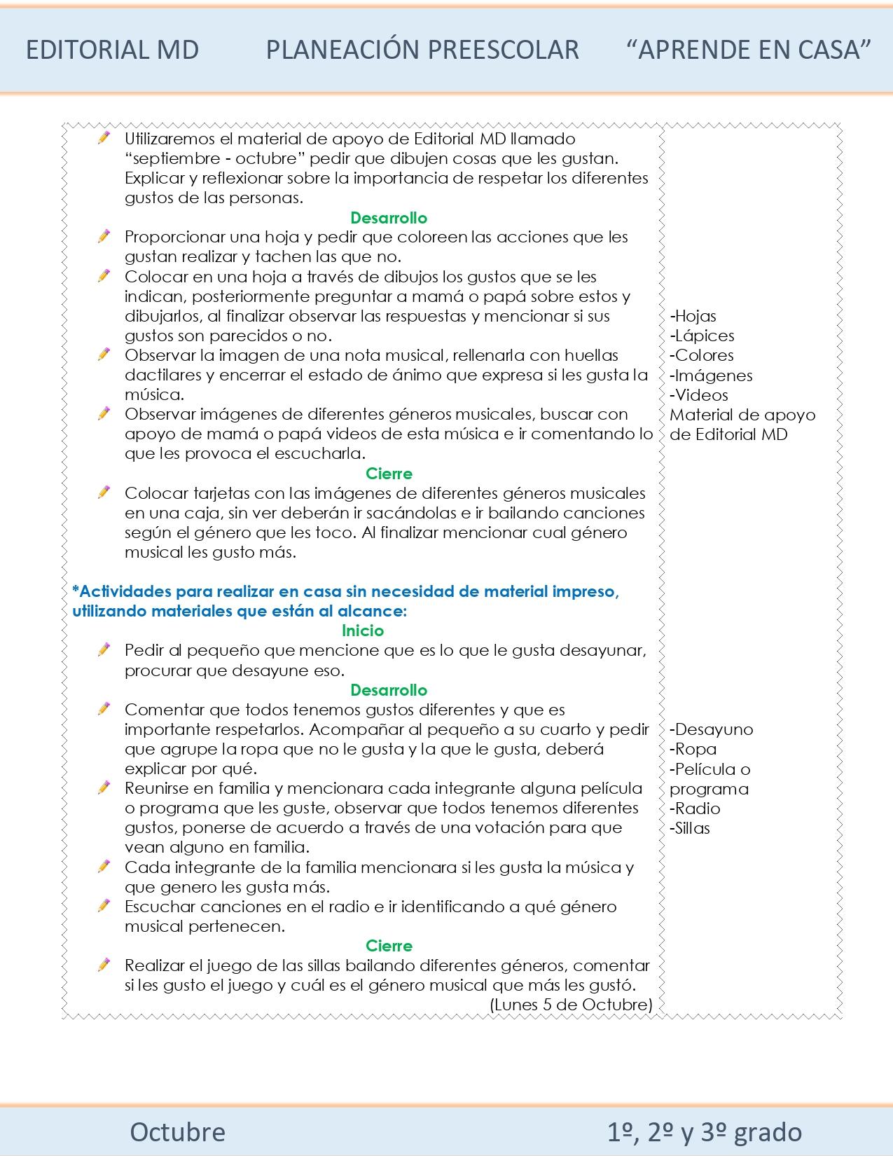 planeacion Preescolar semana 7 de nivel preescolar