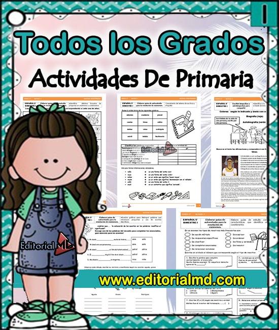 Actividades Para Niños De Primaria Para Imprimir Cuadernillos De Trabajo
