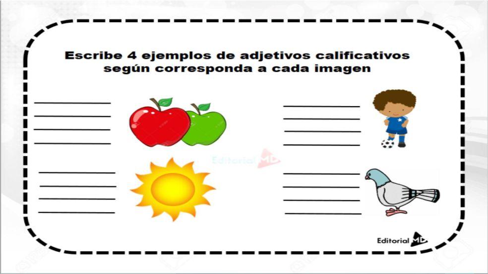 Actividades con adjetivos calificativos para imprimir