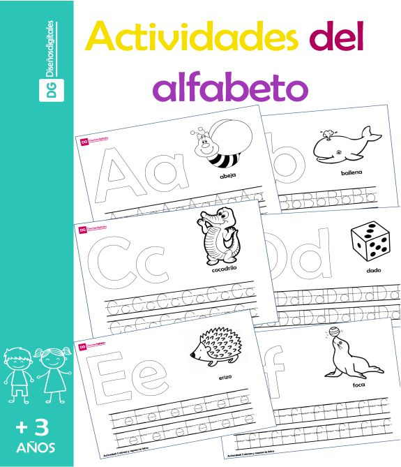 Actividades del Alfabeto para Niños - Preescolar y Primaria