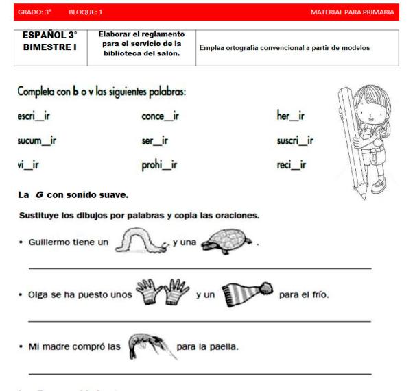 Actividades para niños de primaria para imprimir