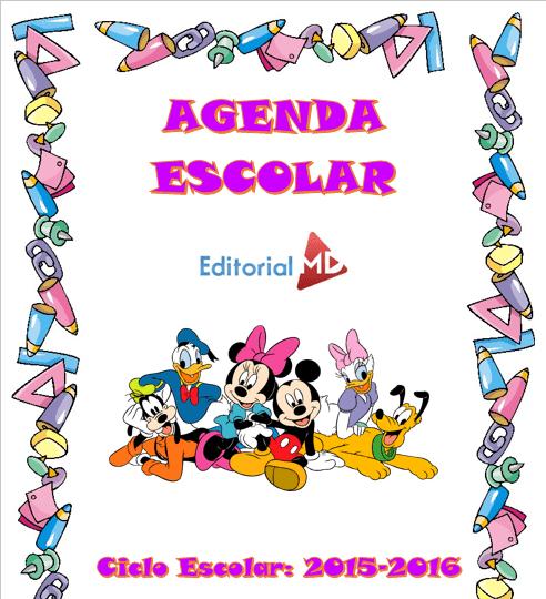 Agenda Escolar Ciclo 2015 - 2016