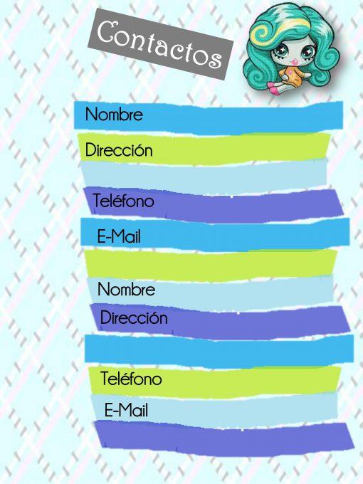 Agenda Perpetua Escolar yo Personal Monster High Minis 02