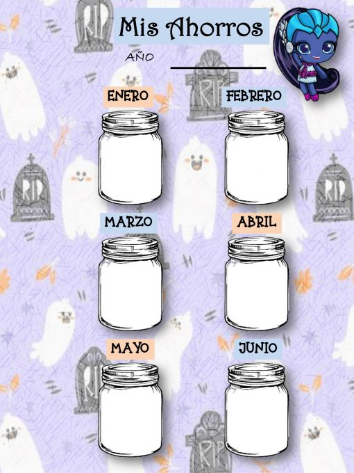 Agenda Perpetua Escolar yo Personal Monster High Minis 05