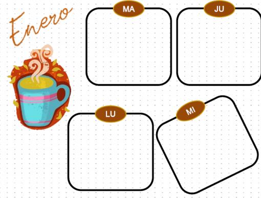 Agenda Perpetua y Diario Bullet Journal Amantes del Cafe 03
