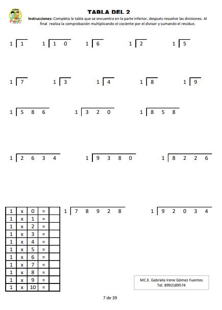 Aprendamos a multiplicar y dividir 02