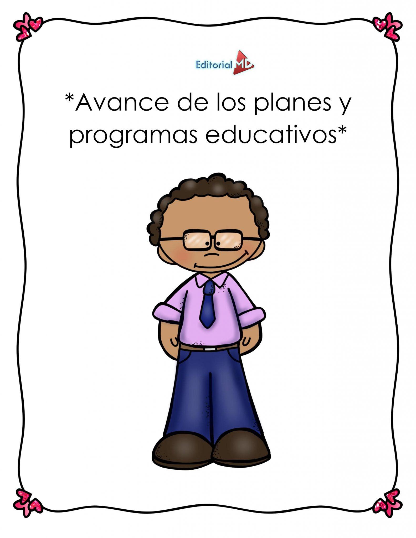 Avance de los planes y programas educativos 01