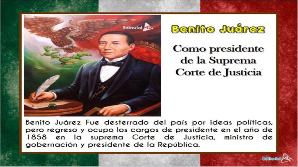 Benito Juarez fue desterrado