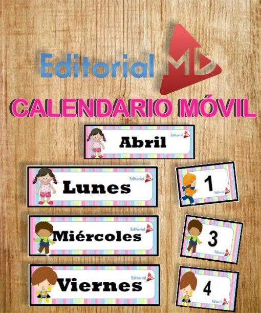 calendario móvil para imprimir movil