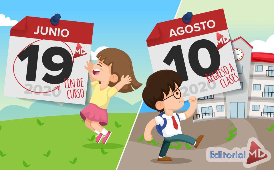 fechas para reinicio de actividades escolares 2020 - 2021