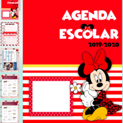 agenda escolar minnie mouse 2019-2020