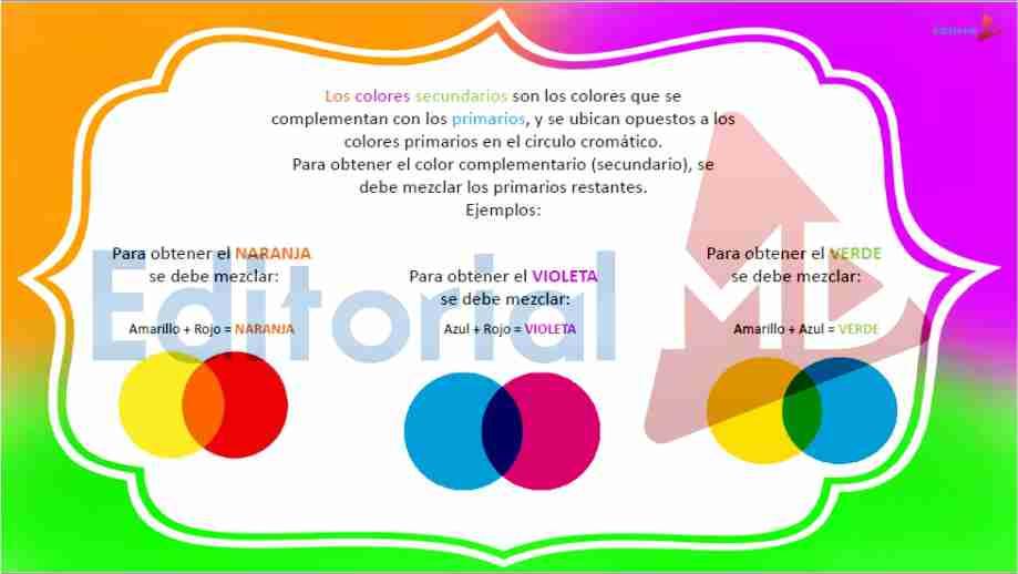 Clasificacion de colores para niños