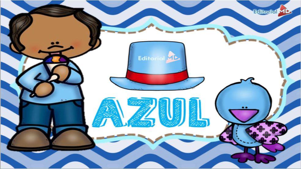 Color azul para niños