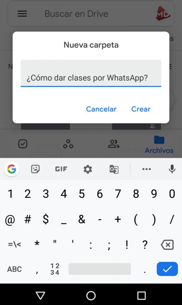 carpeta como dar clases por whatsapp