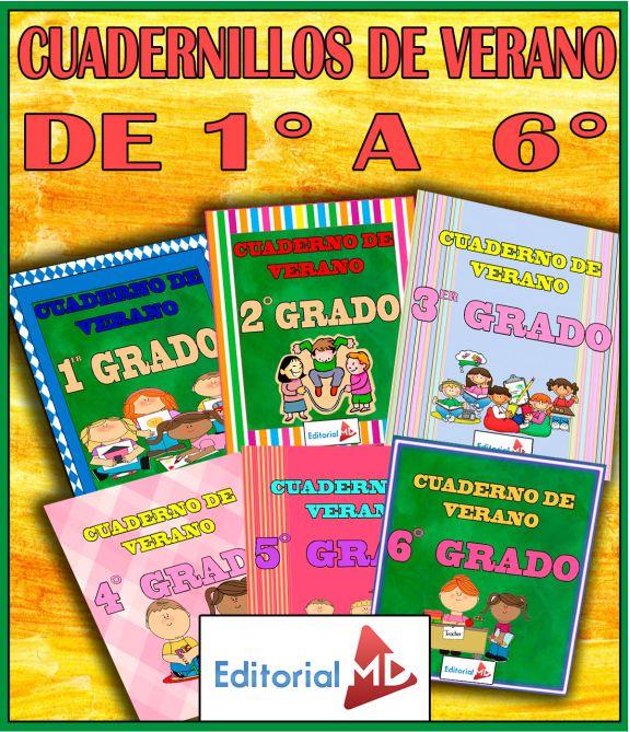 Cuadernillos de Repaso Escolar para Vacaciones 2019 (Todos los Grados)
