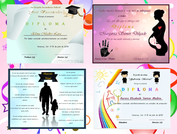 Diplomas de Graduación para Imprimir Varios