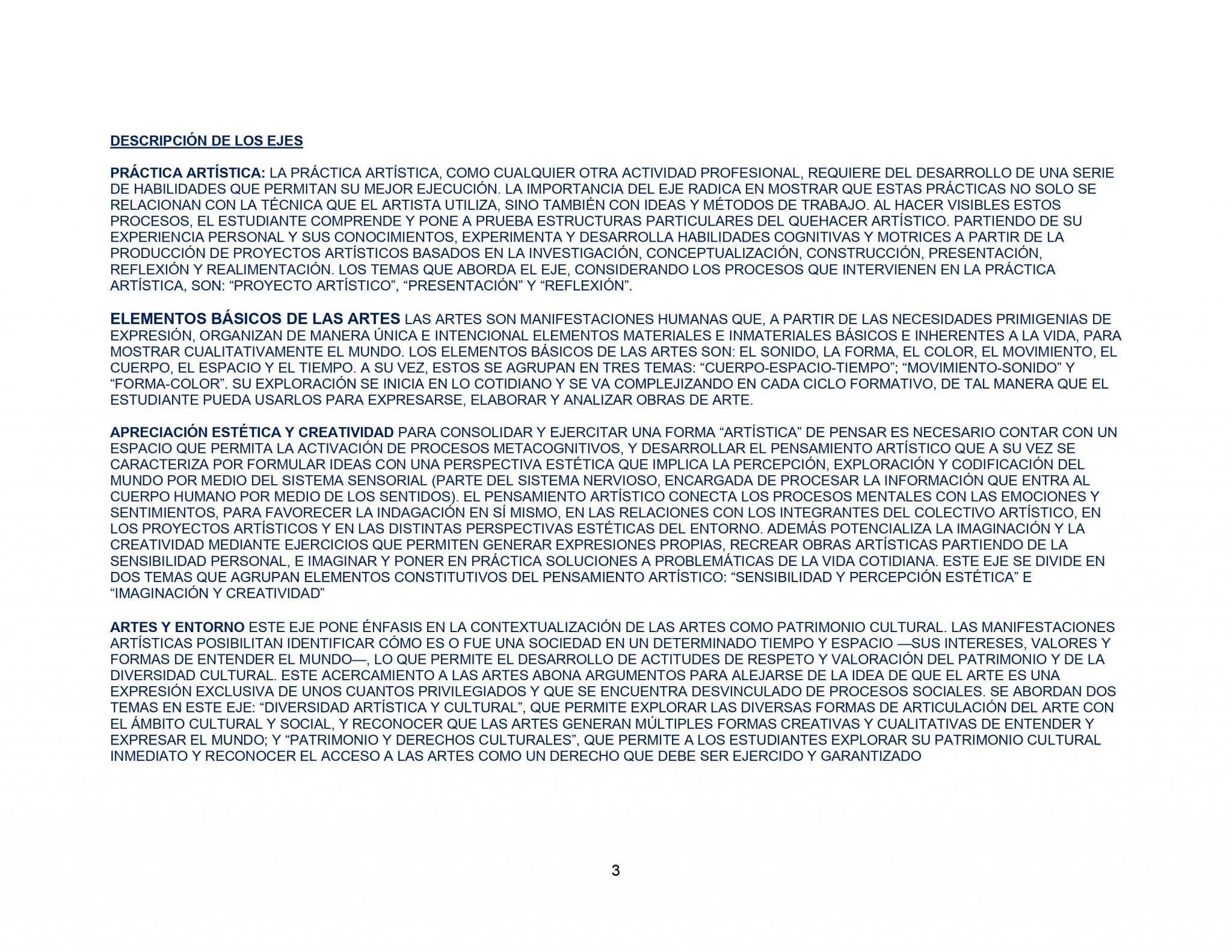 DOSIFICACIÓN ARTES VISUALES 1 Trimestral 03