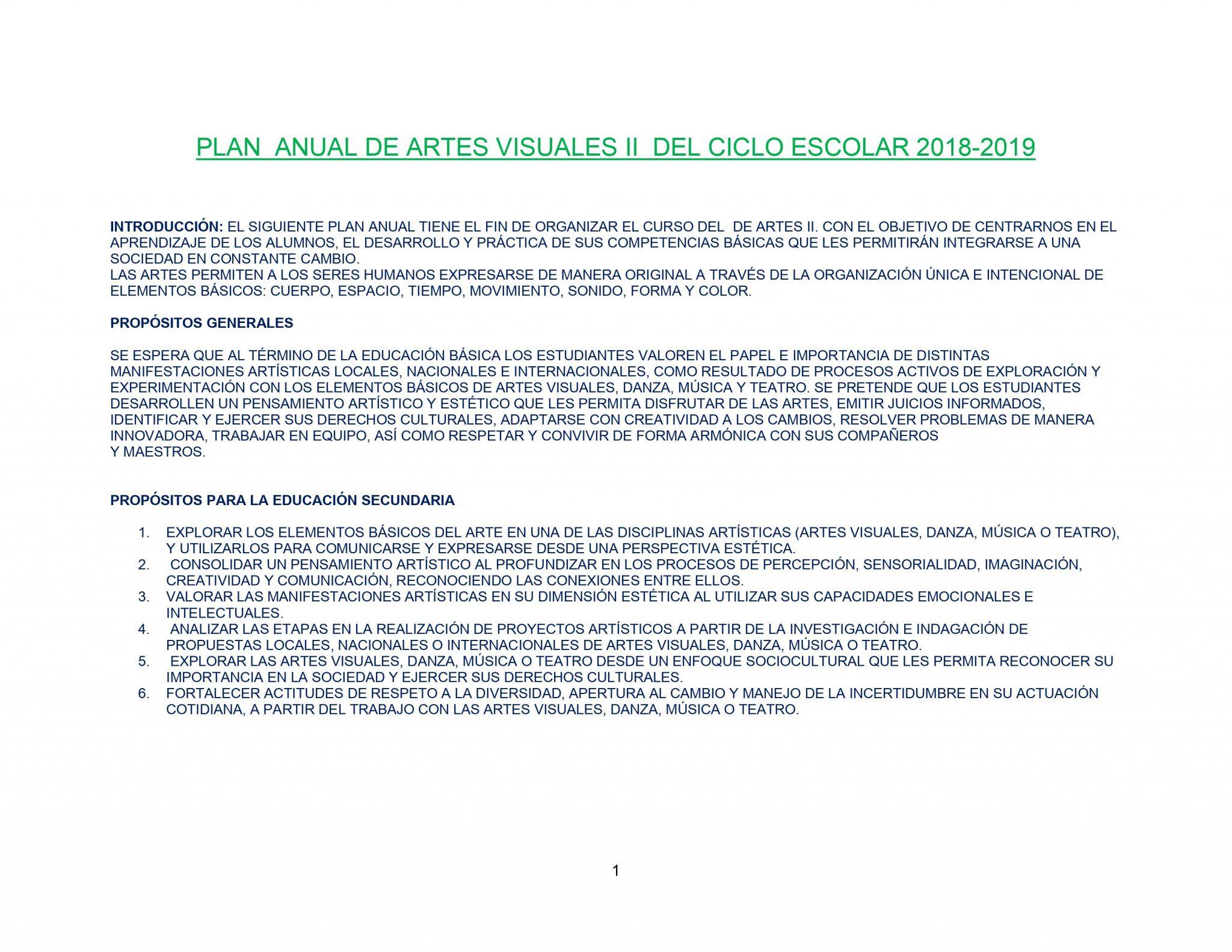DOSIFICACIÓN ARTES VISUALES 2 Trimestral Aprendizajes Esperados 01