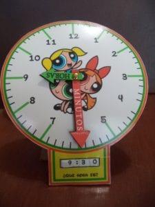 reloj para aprender las horas de las chicas superpoderosas