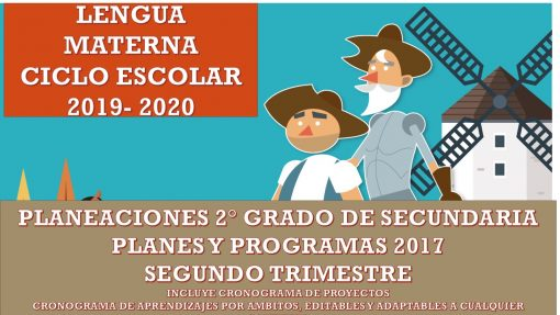 Planeaciones Lengua Materna 2° de Secundaria (SEGUNDO TRIMESTRE) 2019-2020