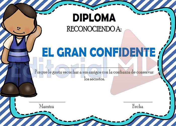 diplomas de Fin de Curso el gran confidente