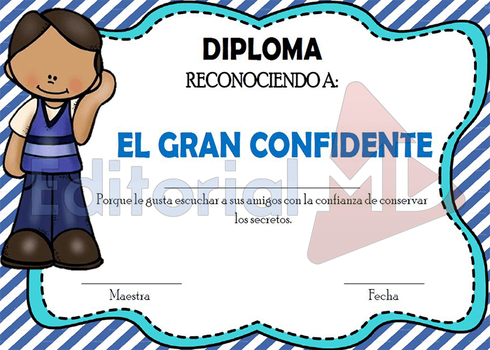 Diplomas agradecimiento