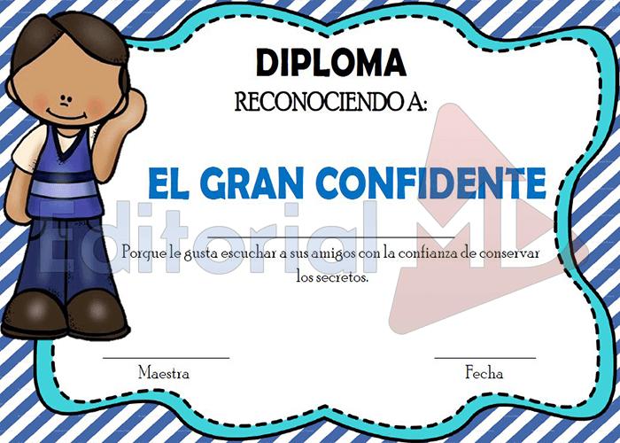 diploma el gran confidente