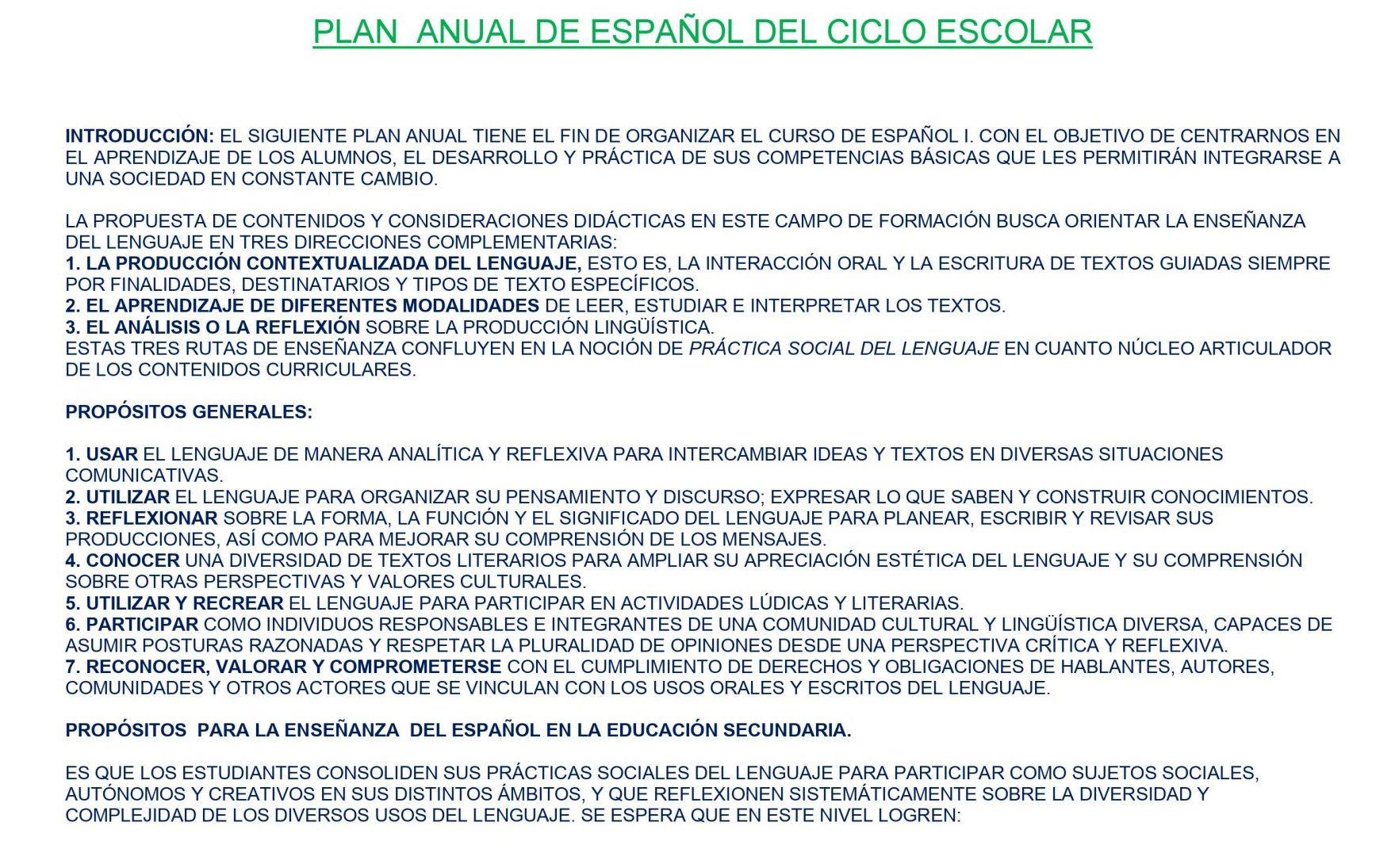 EJEMPLO DOSIFICACIÓN TRIMESTRAL ESPAÑOL 1 01