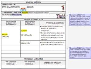 ejemplo PLANEACIÓN Y DIARIO DE TRABAJO