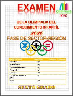 Examen De La Olimpiada Del Conocimiento Infantil 2020