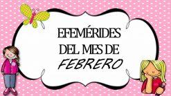 Efemérides de Febrero