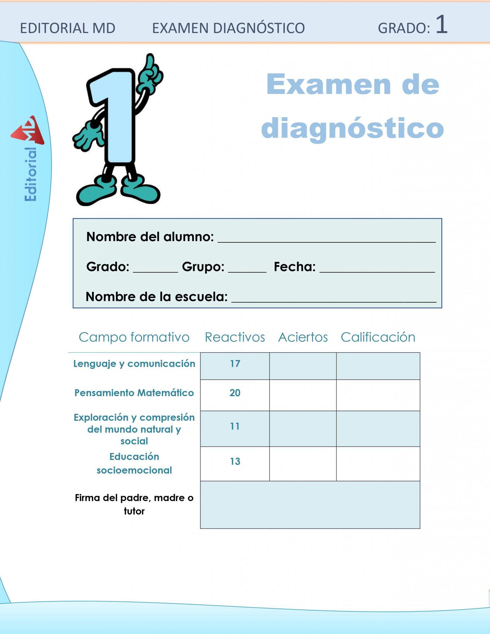 Ejemplo Evaluación Diagnóstica 1er Grado 01