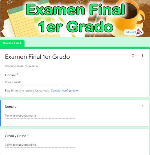 Ejemplo Exámenes en Google Forms 01