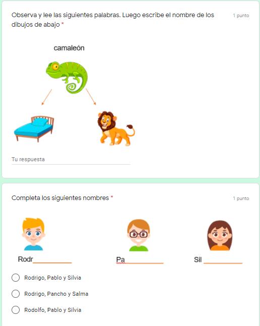 Ejemplo Exámenes en Google Forms 05