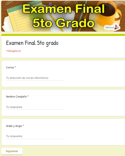 Ejemplo Exámenes en Google Forms 5to grado01