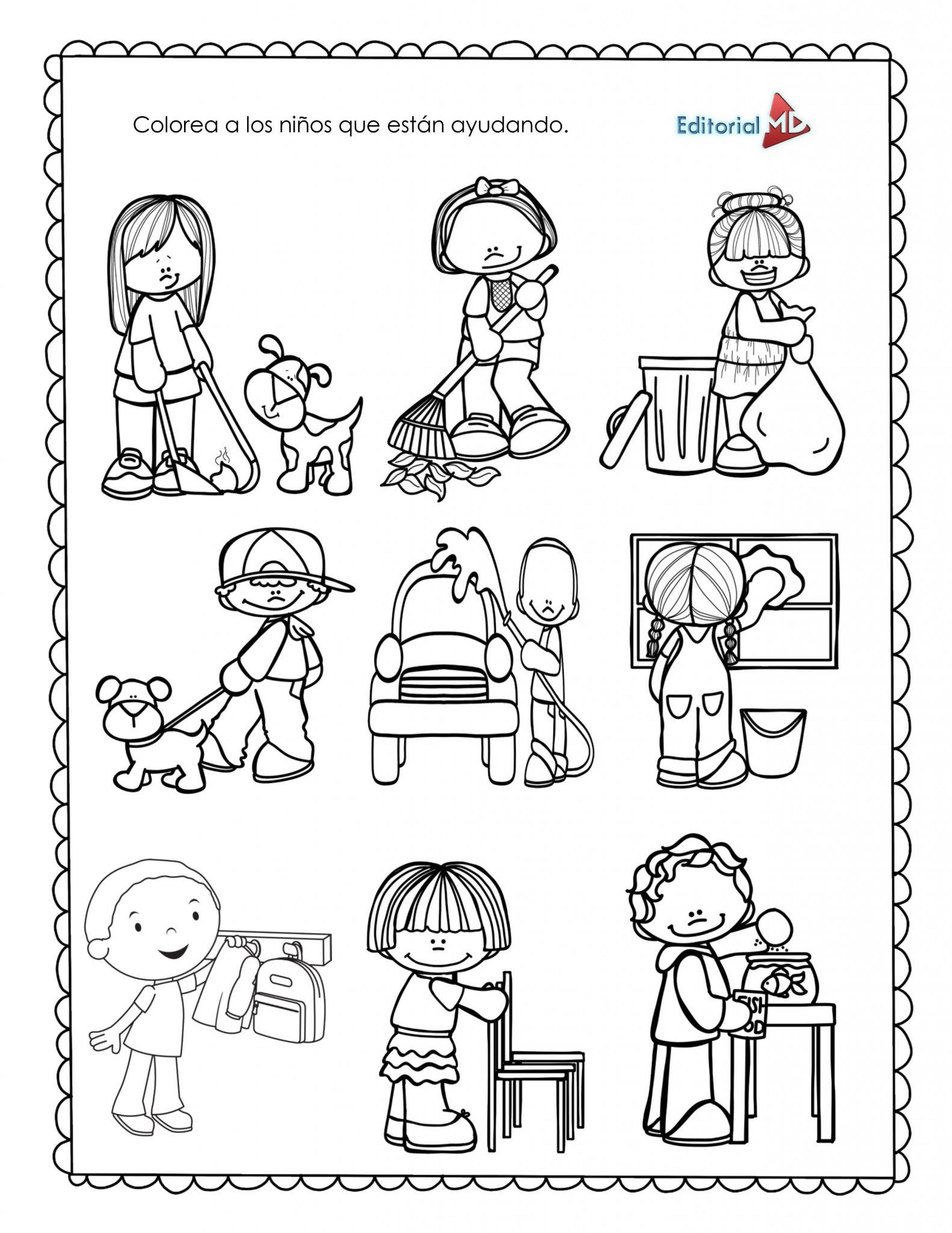 Ejemplo Material de apoyo para imprimir semana 33 preescolar