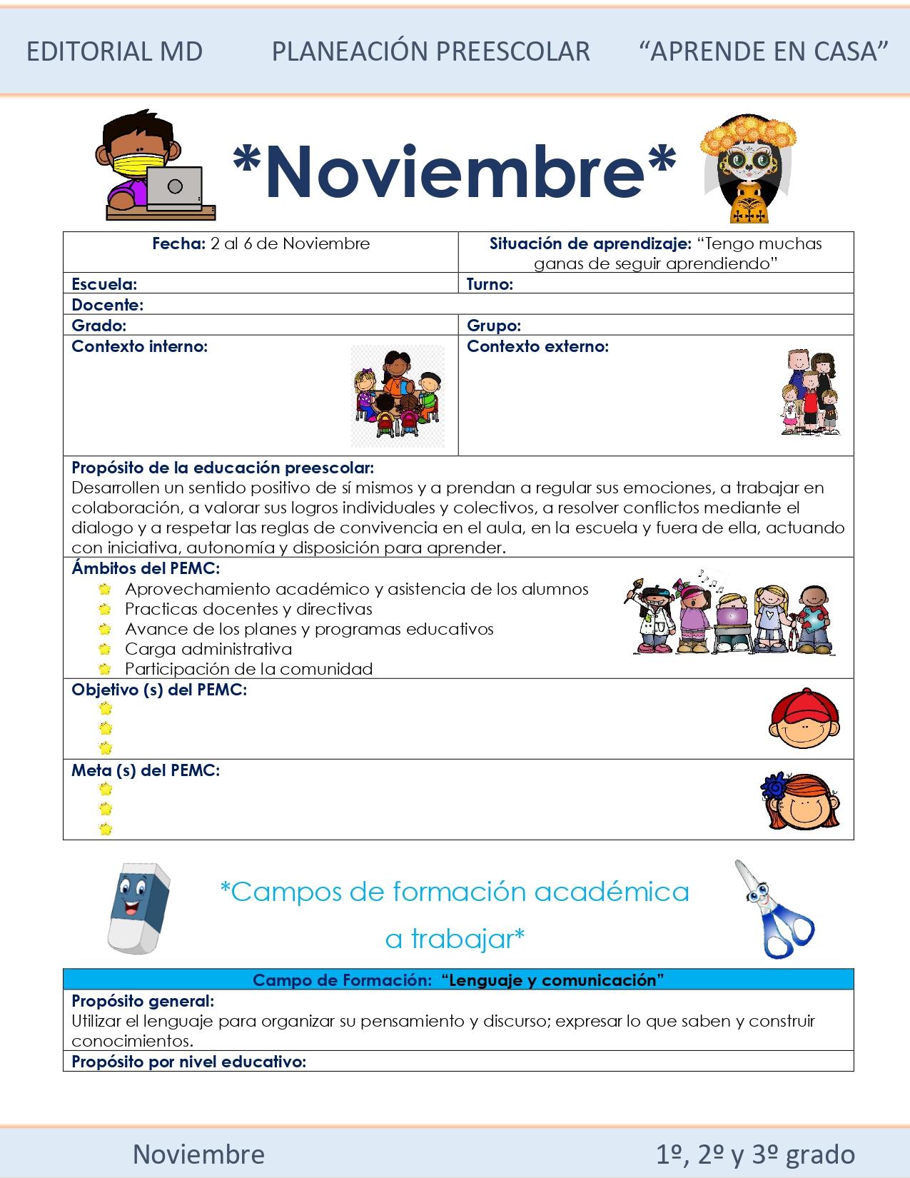 Ejemplo de planeación semana 11 preescolar 01