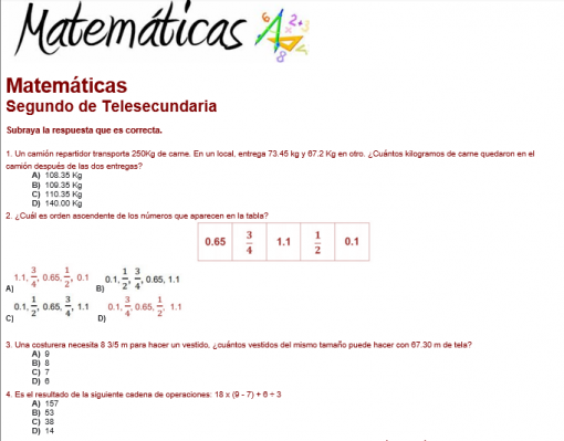 Ejemplo evaluacion diagnostica 2do grado Telesecundaria 03