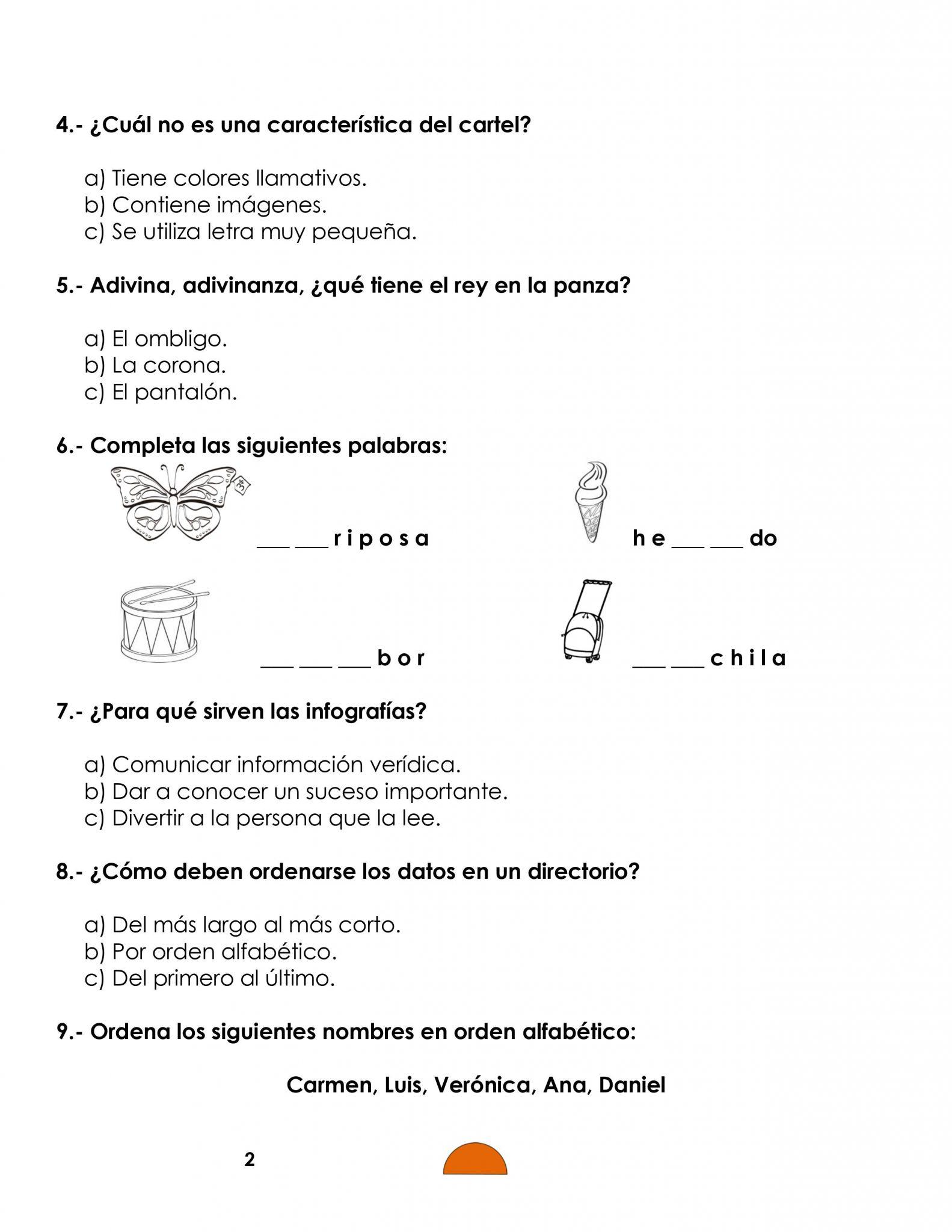 Ejemplo examen 1er grado 02