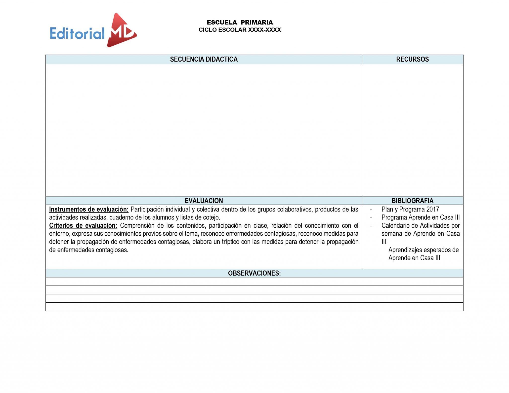 evaluacion plan de trabajo semana 32