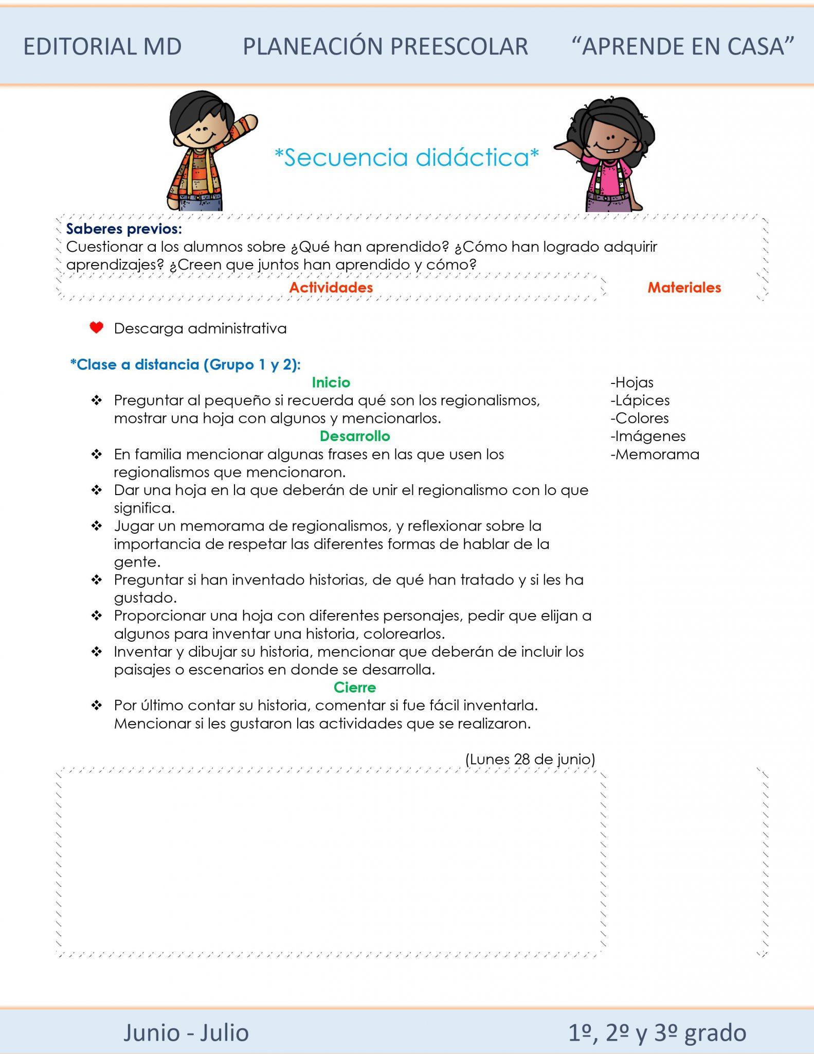Ejemplo planeación Híbrida semana 40 de preescolar 02