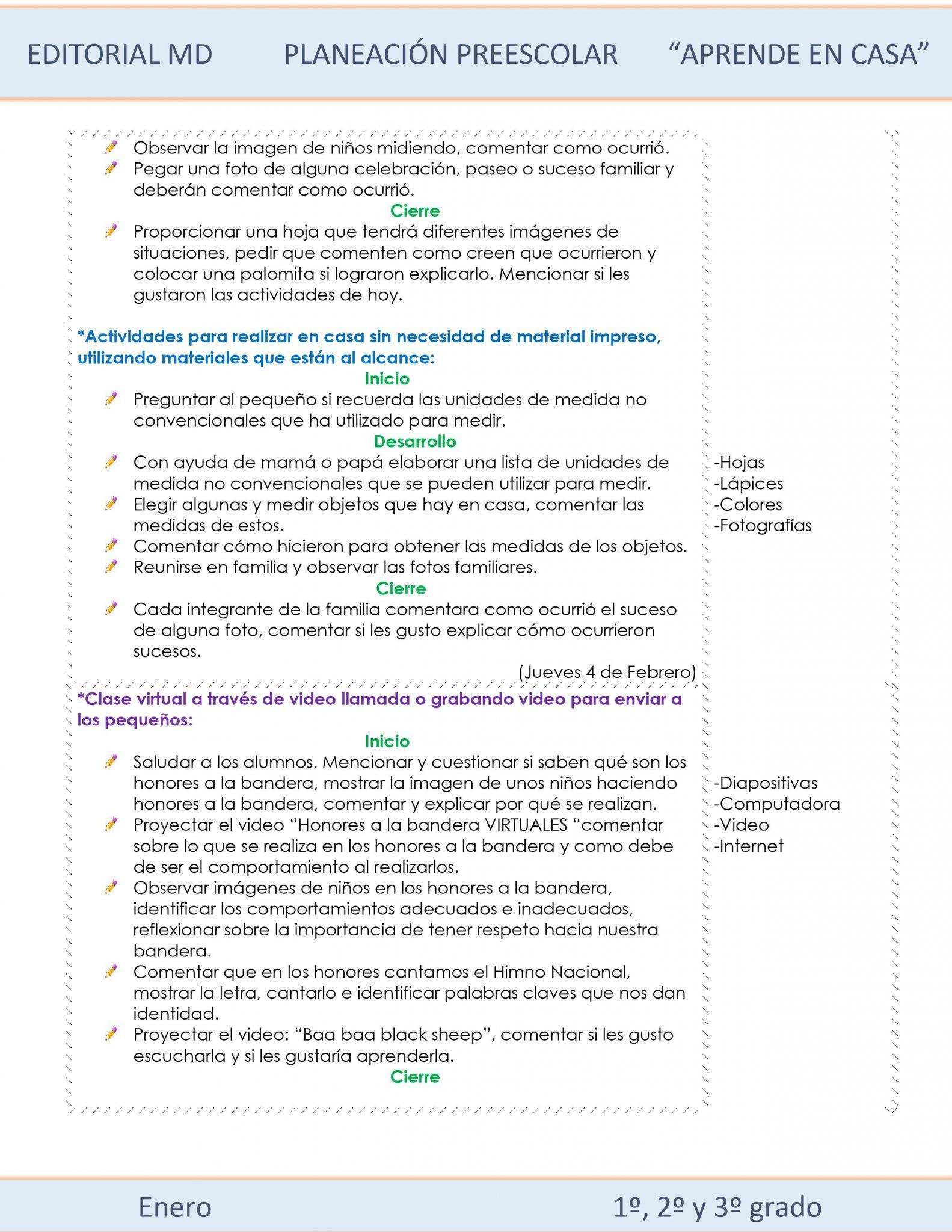 Ejemplo planeación Preescolar del 1 al 5 de Febrero del 2021 02