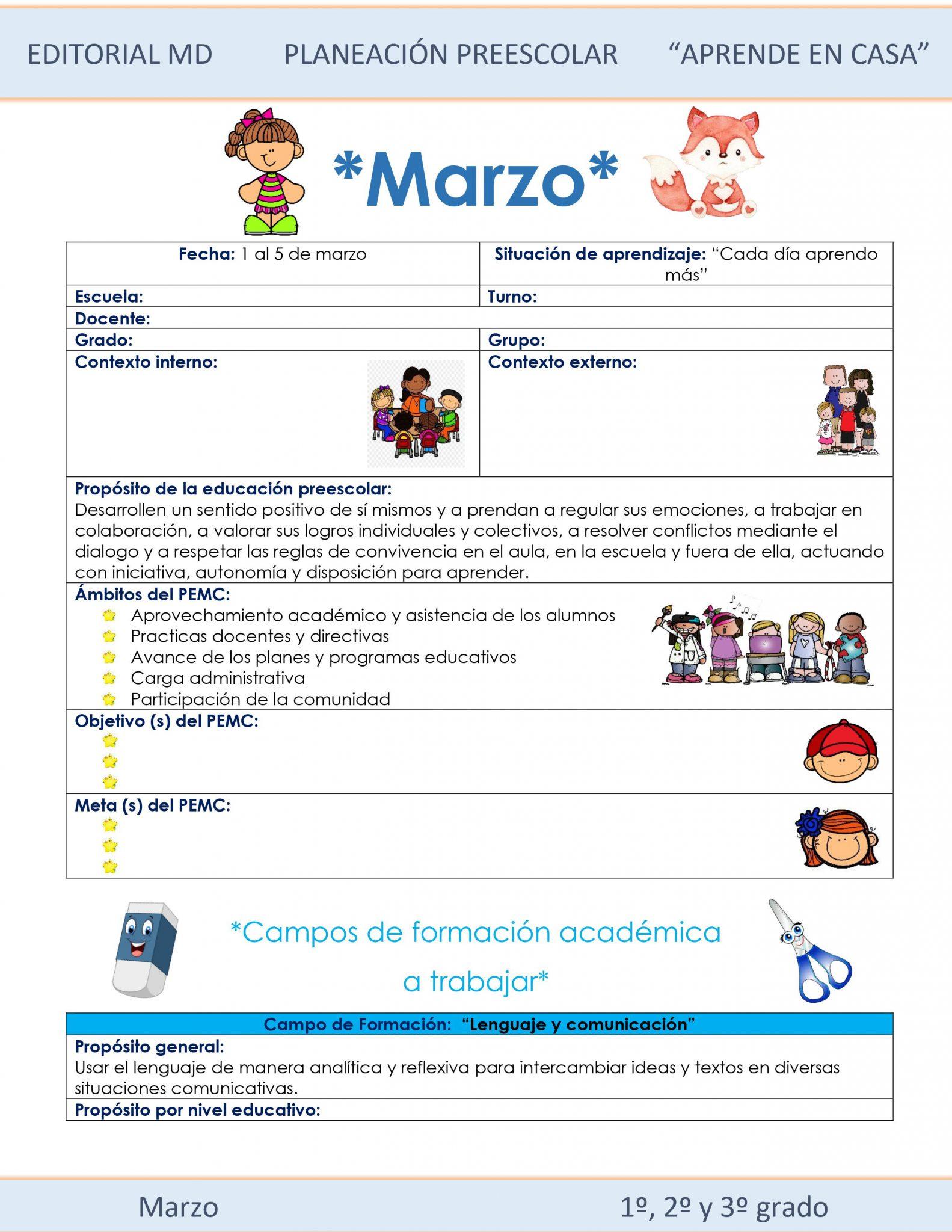Ejemplo planeación Preescolar del 1 al 5 de marzo del 2021 01