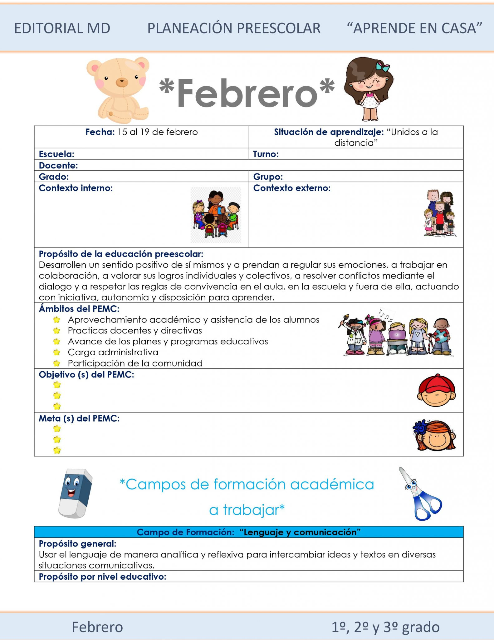 Ejemplo planeación Preescolar del 15 al 18 de Febrero del 2021 01